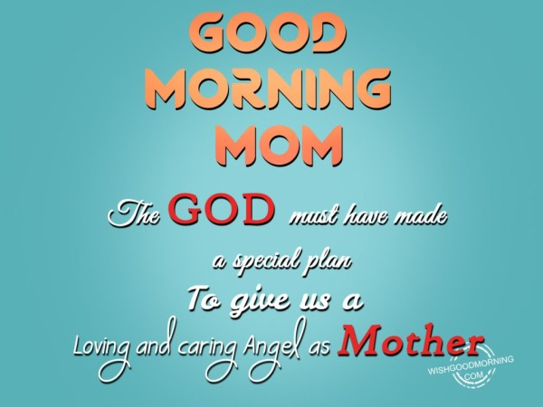 Loving And Caring Angel As Mother-Good Morning-wg9512