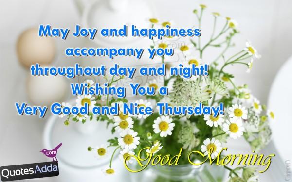 May Joy And Happiness Accompany You - Good Morning-wg01781