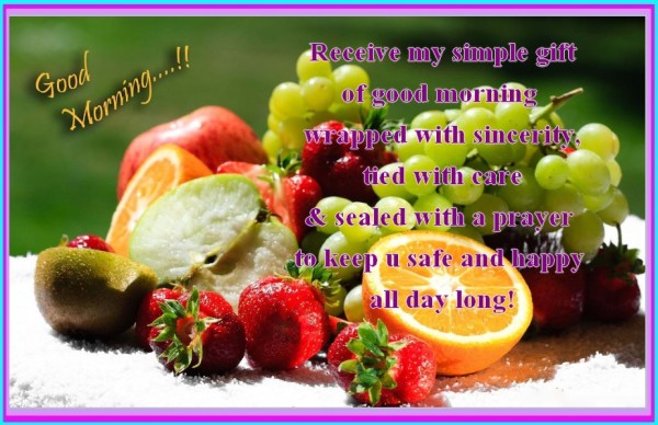 Recieve My Simple Gift - Good Morning-wg017179