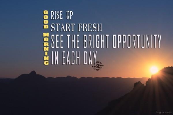 Start Fresh - Good Morning-wg017185