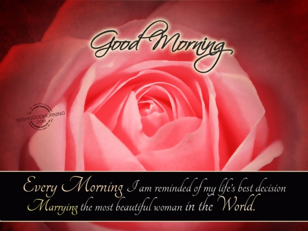 The Most Beautiful Woman In the World-Good Morning-wb585