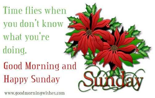 Time Flies Good Morning And Happy Sunday