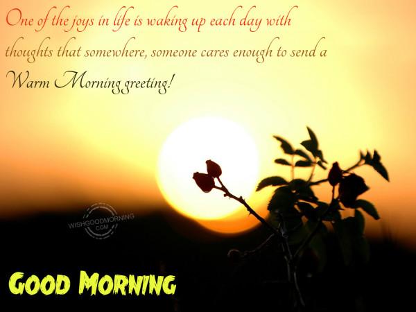 Warm morning greeting m4hsunfo