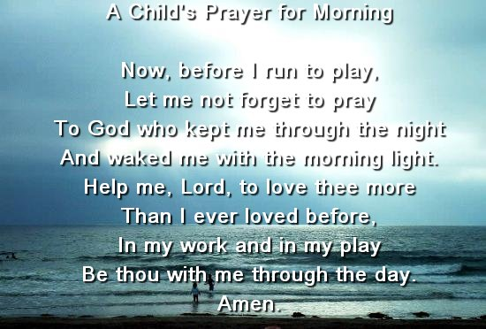 A Child's Prayer For Morning-wg140004