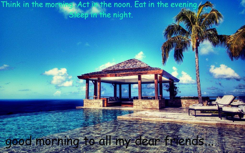 Good Morning All My Dear Friends : All my dear friends good morning