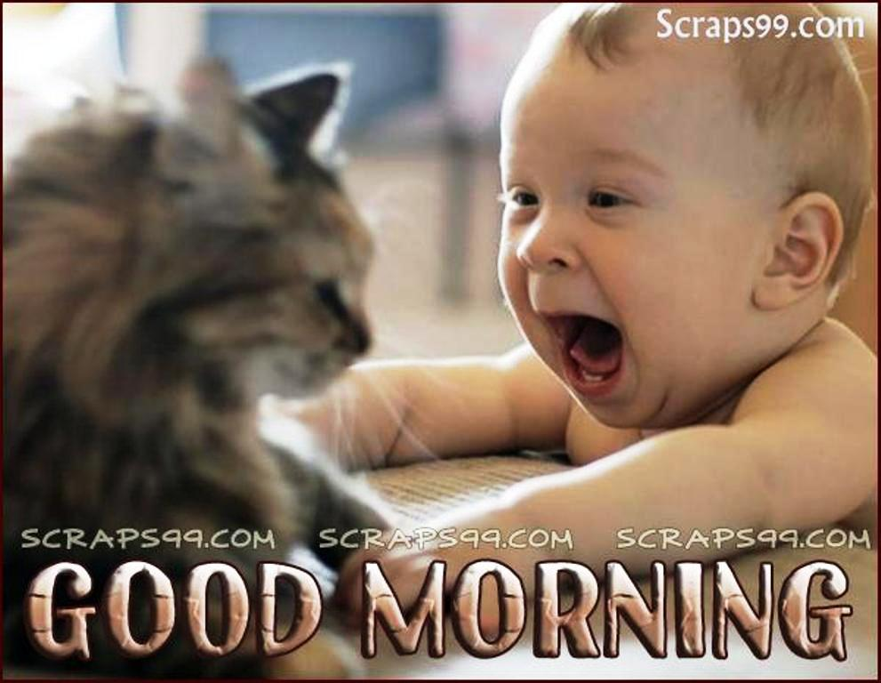 Attractive Good Morning Wishes With Baby Pictures, Images   Page 12