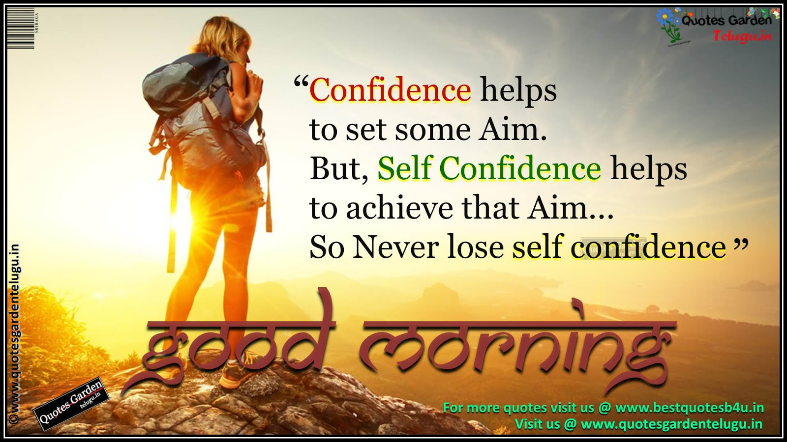 Confidence Helps To Set Some Aim Wg16066