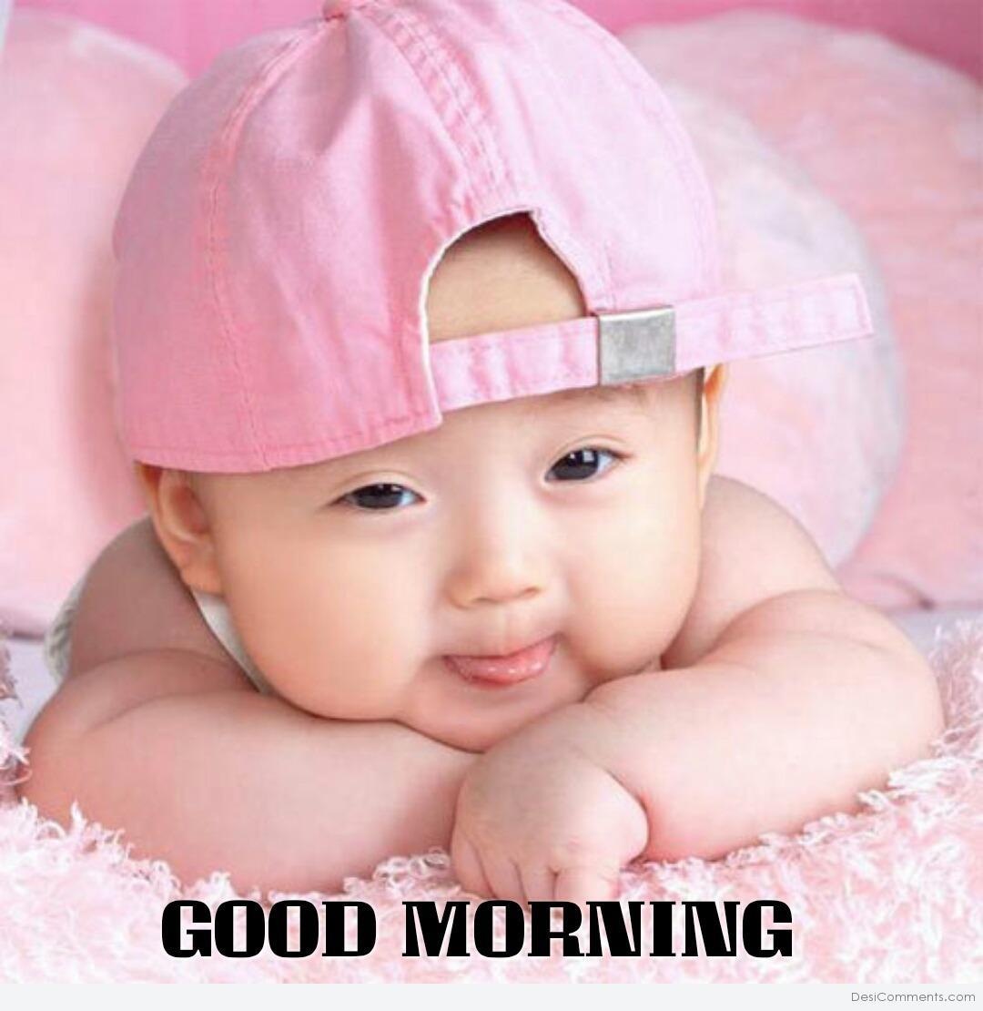 Cute Baby Wishing Good Morning