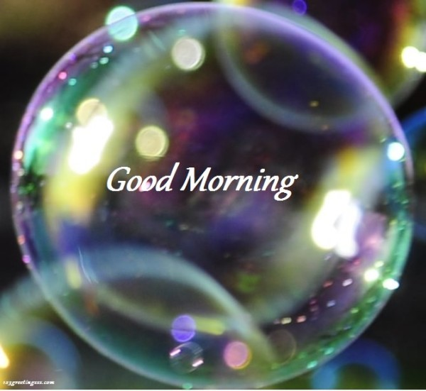 Good Morning - Colored Bubble-wg16161