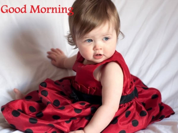 Good Morning - Cute Baby girl-wg16167