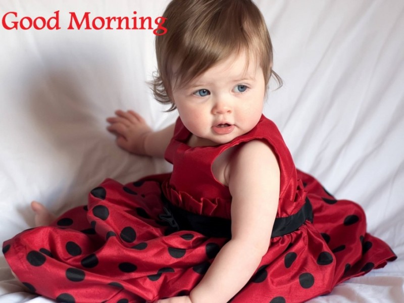 Good Morning Baby Cute : Good morning wishes with baby pictures images