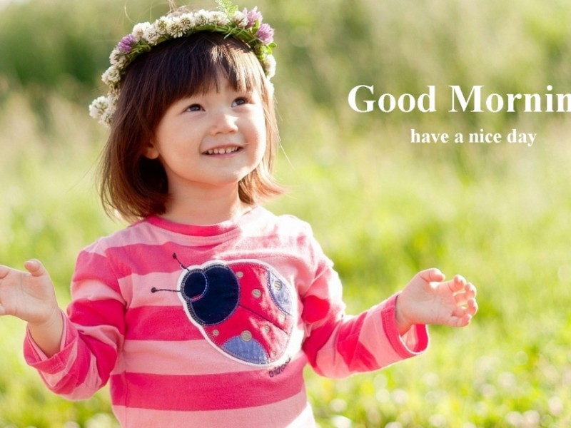 Good Morning Wishes With Baby Pictures Images