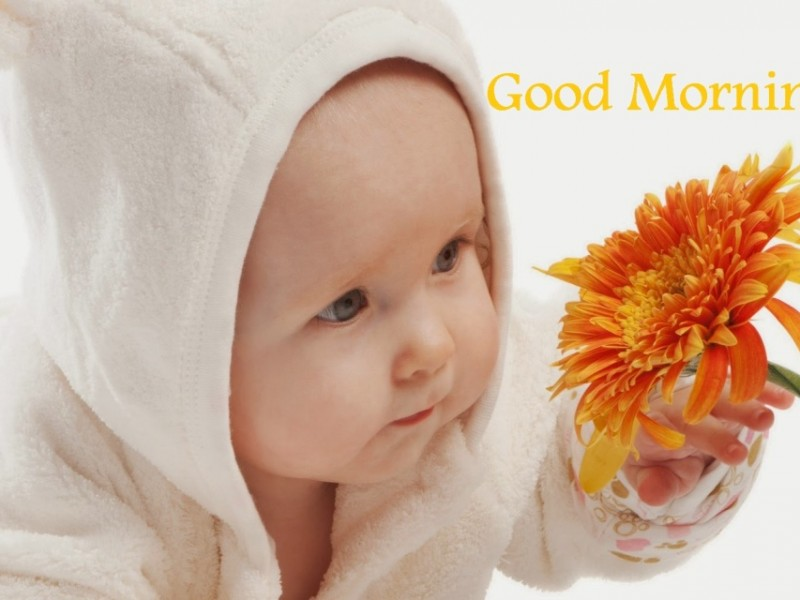 Good morning wishes with baby pictures images good morning little baby wg16197 thecheapjerseys Image collections