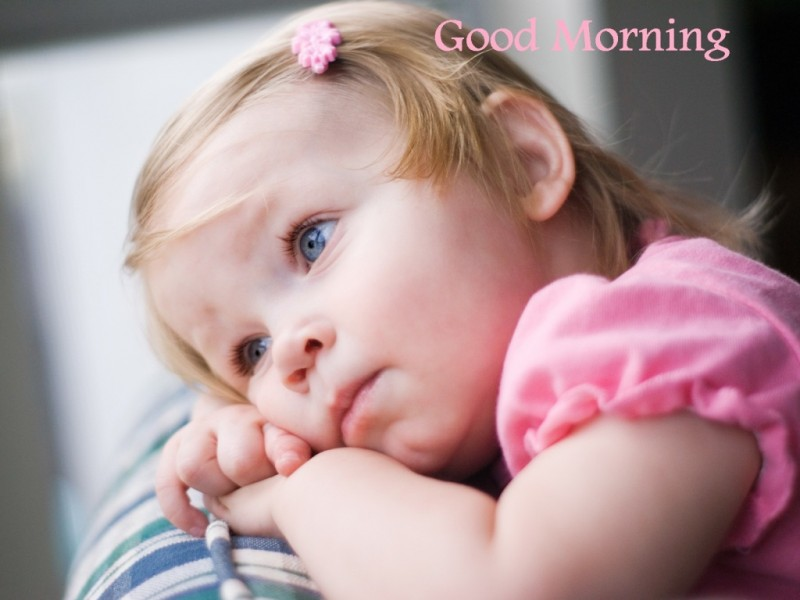 Good morning wishes with baby pictures images good morning sweet girl wg16231 altavistaventures Image collections