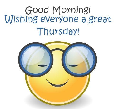 Good Morning Everyone Is Spanish : Good morning thursday