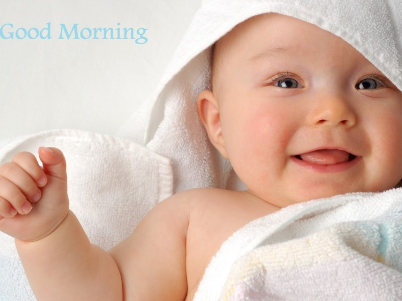 Good Morning Wishes With Baby Pictures Images Page 2