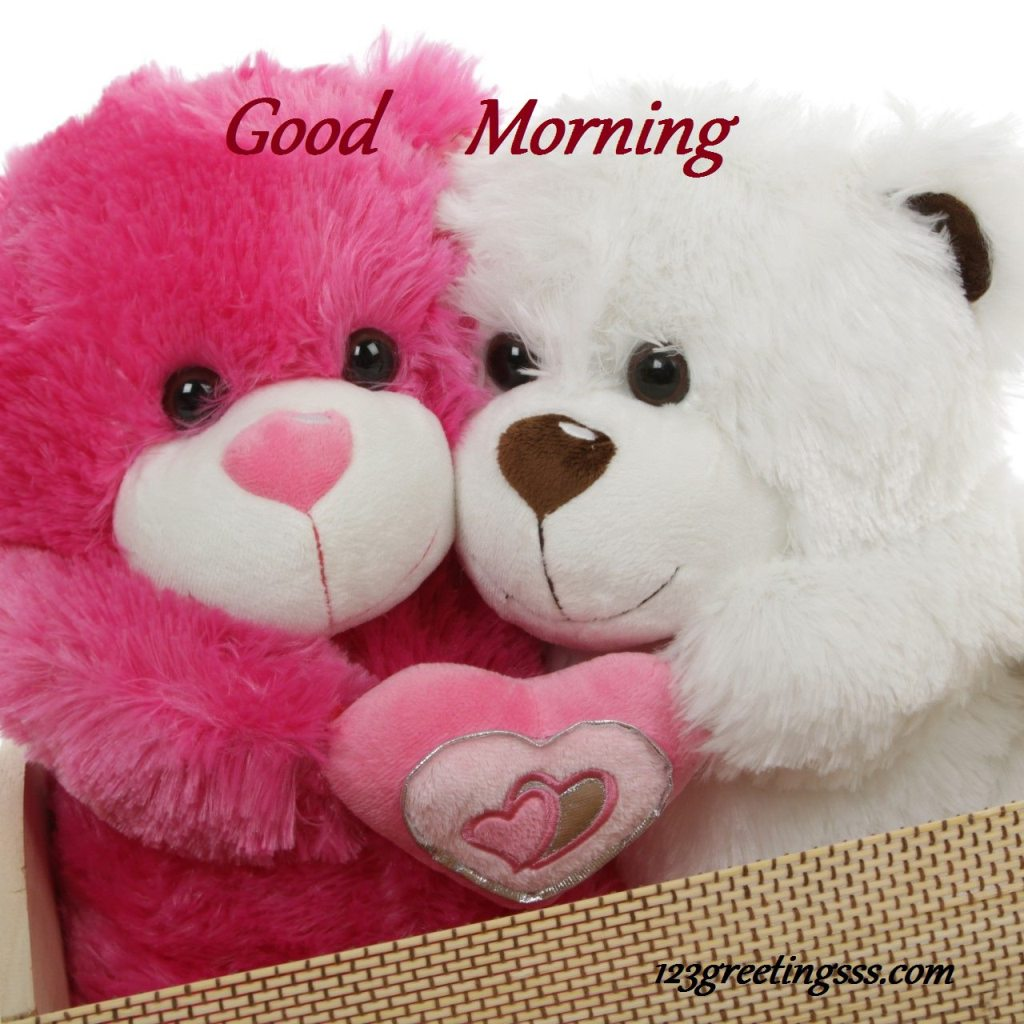 Cute Good Morning In French : Good morning cute teddy image