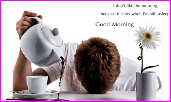I Do Not Like The Morning