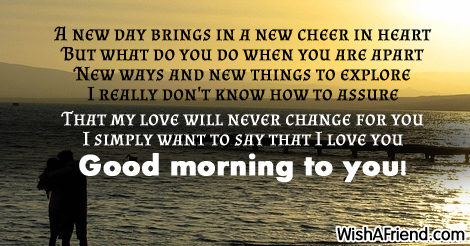 I Simply Want To Say Good Morning