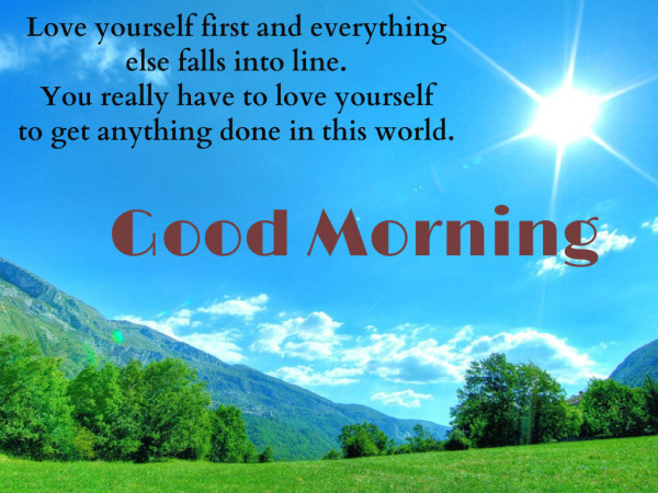 Love Yourself First - Good Morning !-wg16479