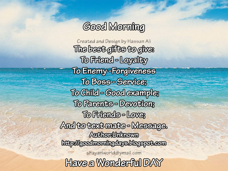 The Best Gifts To Give To Friend Good Morning