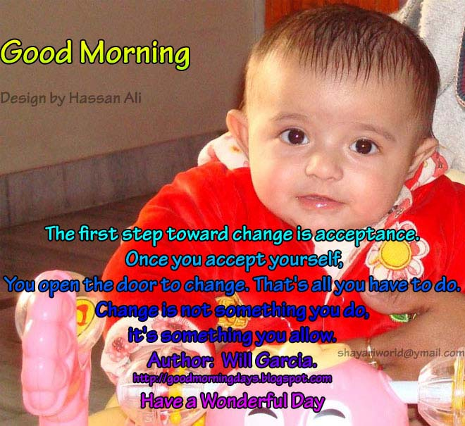 Good Morning Saturday Baby Images : Good morning wishes with baby pictures images page