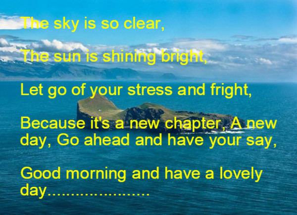 The Sky Is So Clear - Good Morning-wg16753