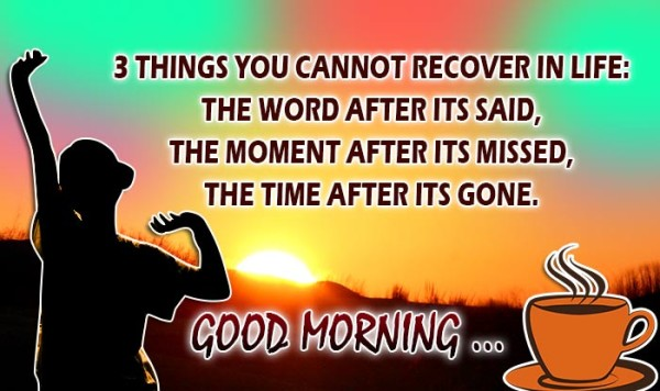 Three Things You Cannot Recover