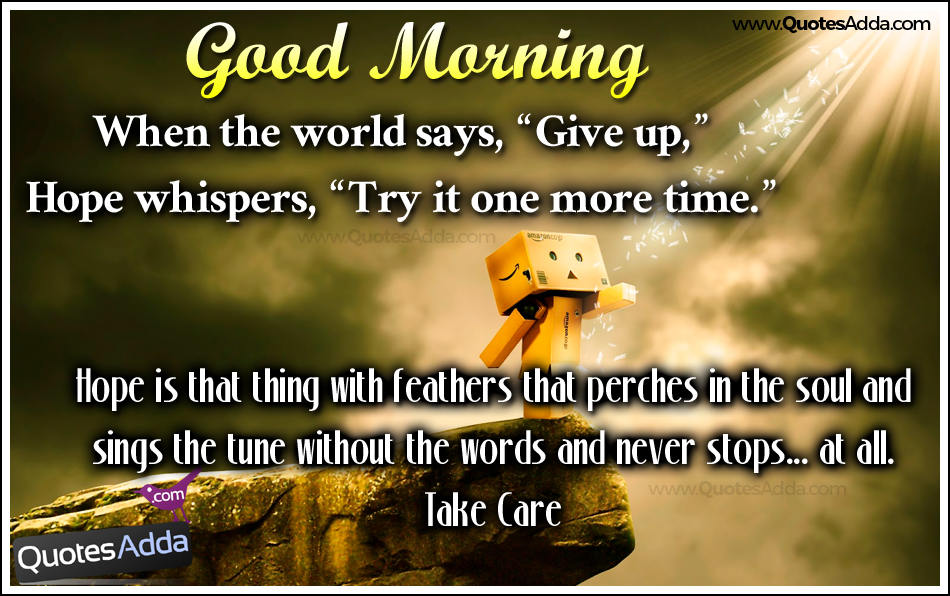 Image of: Sayings Good Morning Wishes Try It One More Time Good Morning